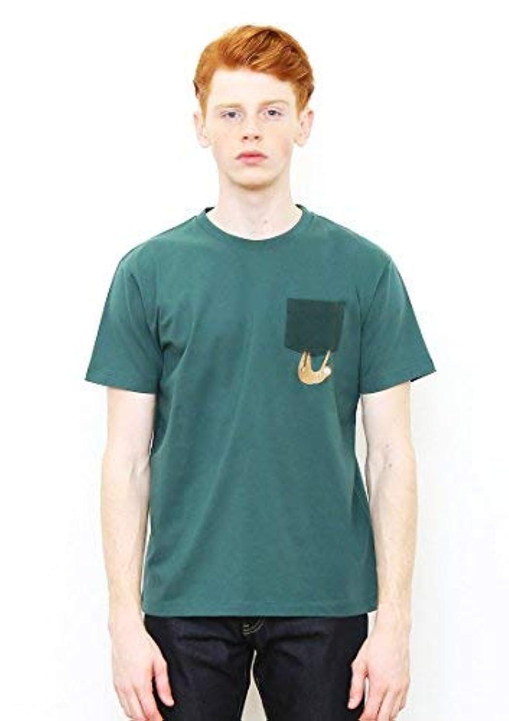 会議若者ヘクタール(グラニフ) graniph ポケット半袖TシャツE/ナマケモノ (モスグリーン)