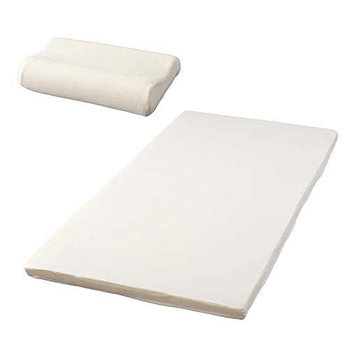 アイリスプラザ マットレス 枕 セット シングル アイボリー 洗える リバーシブルカバー2枚付き KTT-SET