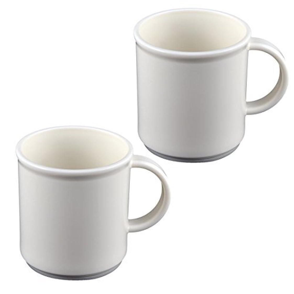 インストール同志サッカーDealMuxバスアクセサリーブラシカップ歯ブラシ歯磨き粉ホルダー2個ホワイト