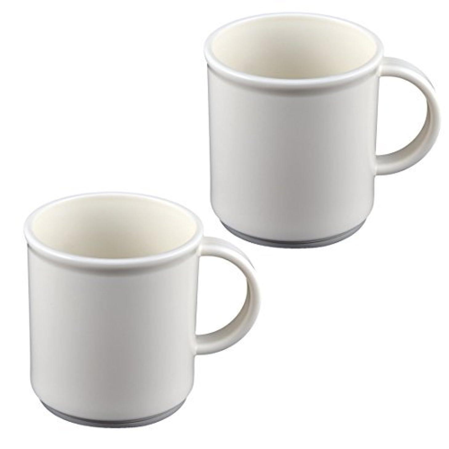 スリップシューズ式虎DealMuxバスアクセサリーブラシカップ歯ブラシ歯磨き粉ホルダー2個ホワイト