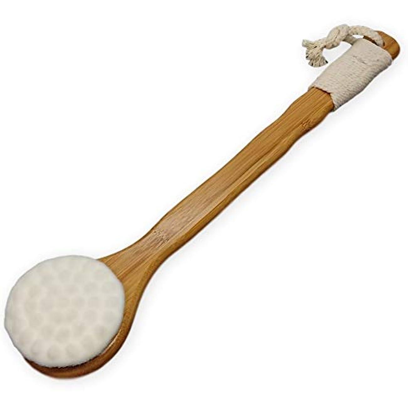 トレーダーモチーフトーナメント(アウプル) ボディースポンジ 洗顔ブラシ 竹製 やわらか 肌に優しい ボディブラシ イボ付き 白