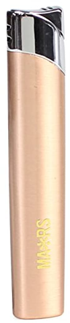 実行クラックポット蘇生するMARS(マーズ) ガスライター スリム オーヴァル 注入式 レディース ピンクゴールド MARS-L010PG