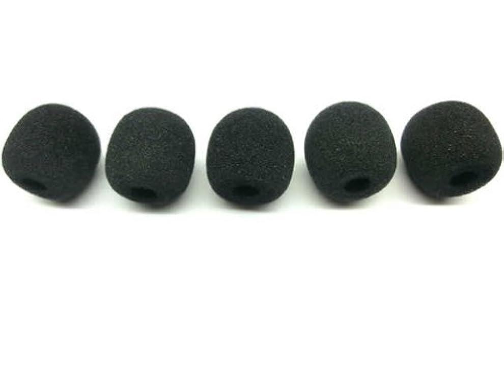 証拠壮大誓う最高のコスパ インストラクター絶賛 マイクスポンジ 風防 (S)5個入り 一般的な インカム ピンマイク 装着可能 汎用品 S