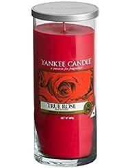 Yankee Candles Large Pillar Candle - True Rose (Pack of 2) - ヤンキーキャンドル大きな柱キャンドル - 真のバラ (x2) [並行輸入品]
