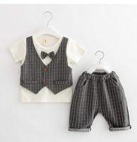 ★シャツ+ズボン★キッズ男の子上下セット★2点セット★男の子の半袖スーツセット