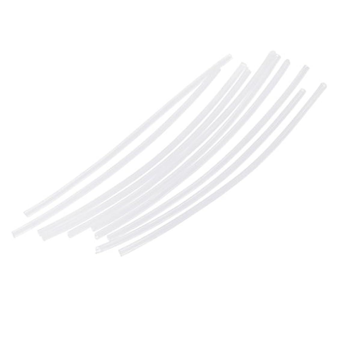 孤独赤外線貫入Perfk リグ チューブ 熱収縮 スリーブ スイベル 保護 コネクタ 10本セット 全3色 - 白