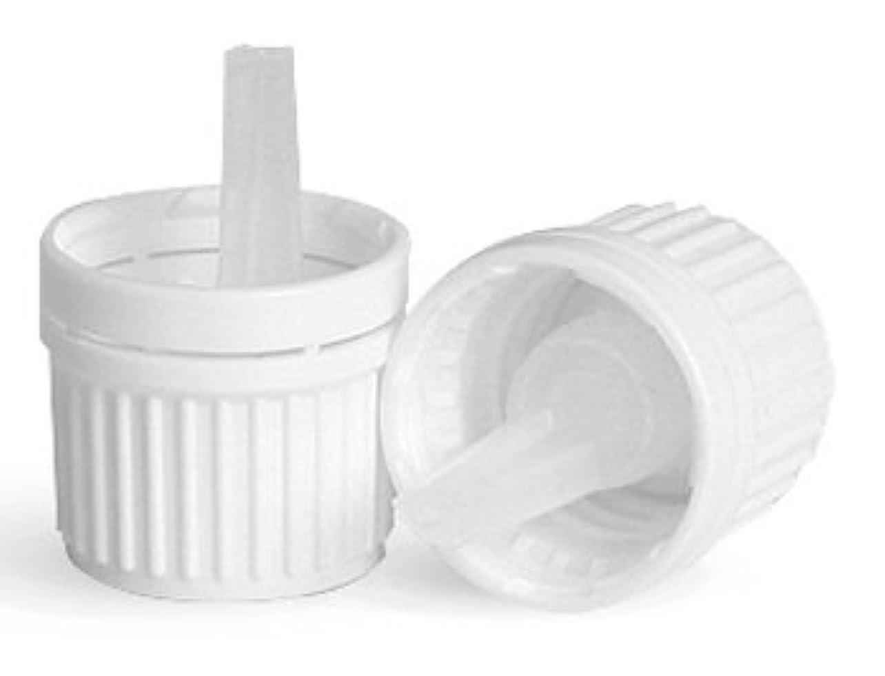 銛潜在的な先史時代の12 Pack of Essential Oil Bottle Caps w/ Orifice Reducing Droppers (White)