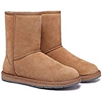 UGG Boots Unisex Short Classic Suede Australian Wool Women's Men's Winter Shoes