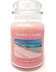 パラダイスSands Yankee Candle Large Jar 22oz Candleピンク