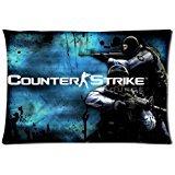 Counter Strikeカスタム枕カバークッションカバー枕カバー装飾的なスロー枕カバー20x 30( Two Sides )