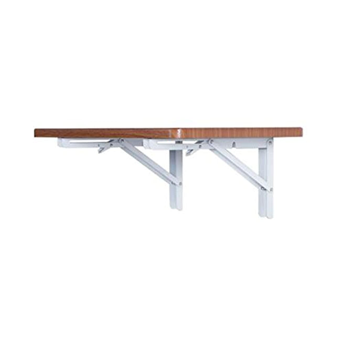 デザートタフ悲観的CJC テーブル 表 折りたたみ 木製 壁掛け式 ドロップリーフ 机 キッチン ダイニング 壁 デコレーション 多機能 スペース 保存中 (色 : Deep walnut)