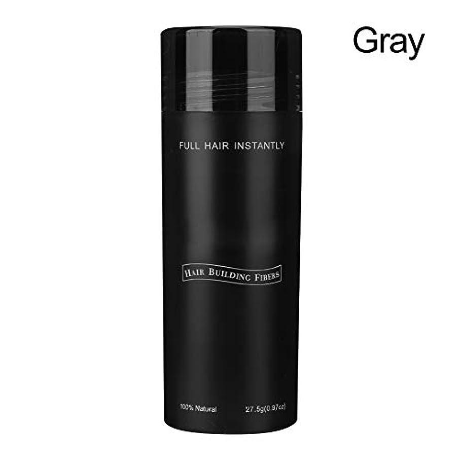 評判締め切り縞模様の毛の建物繊維、毛の美用具の毛のDenser 27.5gの男女兼用の専門の毛の建物繊維の毛損失の解決の毛の濃厚剤のDenser(グレー)