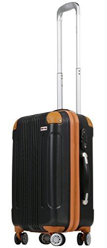 (ムーク)M∞K 超軽量スーツケース TSAロック付き 機内持ち込みSサイズ~Lサイズ (Sサイズ, ブラック)