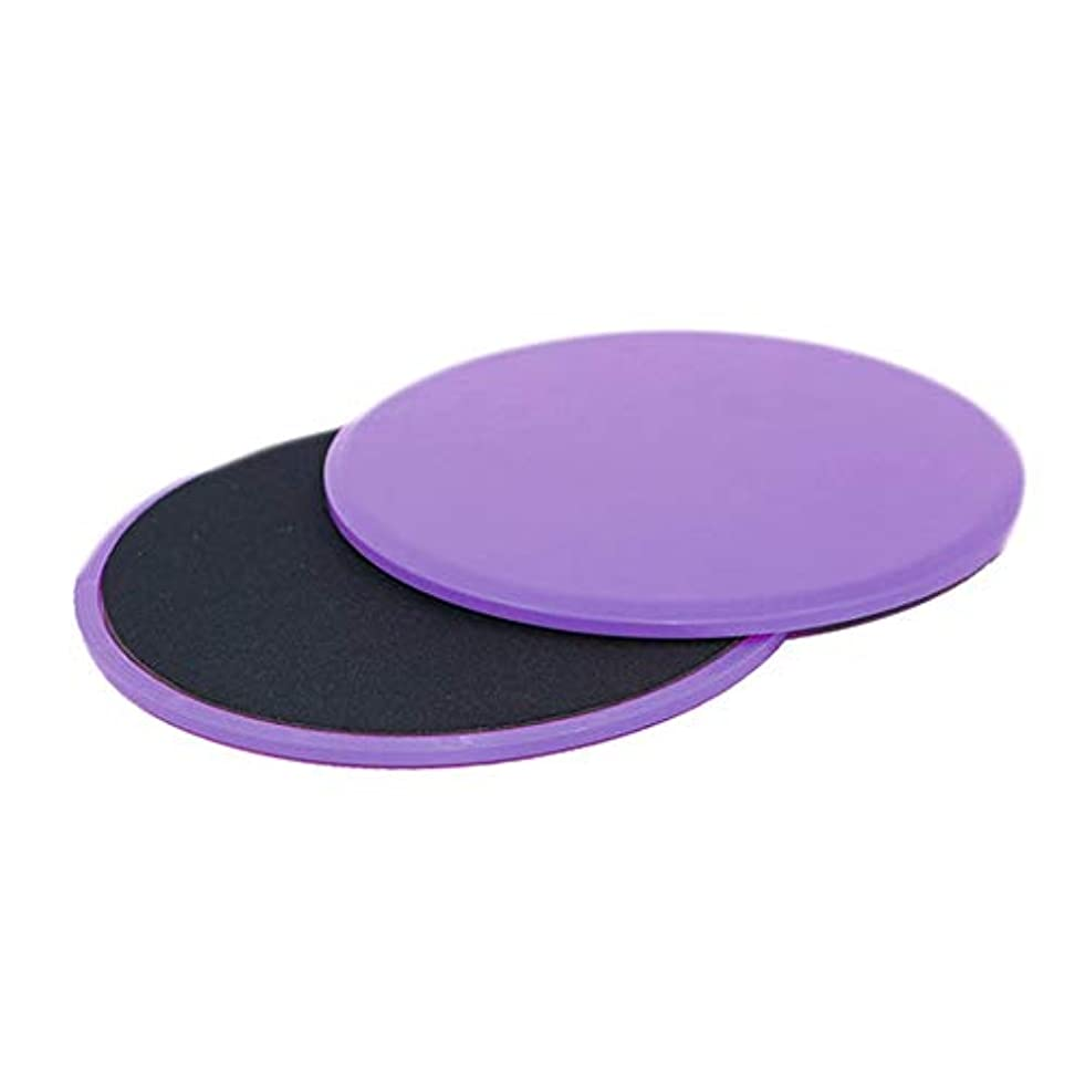 グラス花束透けるフィットネススライドグライディングディスク調整能力フィットネスエクササイズスライダーコアトレーニング腹部と全身トレーニング - パープル