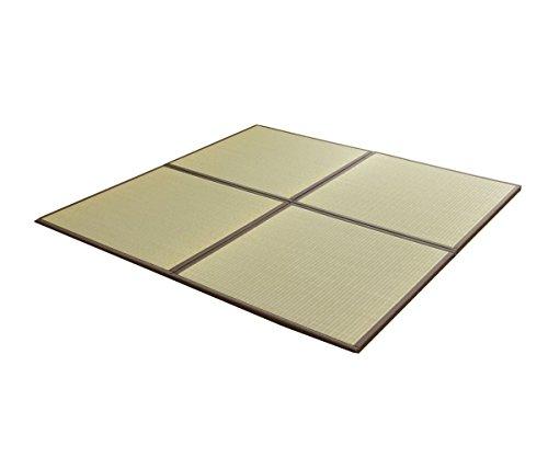 国産い草 置き畳「あぐら 6枚セット」【tm】約67×67cmブラウン(#8608609x6) ユニット畳
