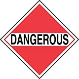 """Accuform Signs MPLM01CT100 PF-Cardstock Mixed Loads DOT Placard, Legend DANGEROUS, 10-3/4"""" Width x 10-3/4"""" Length, Black on White/Red (Pack of 100) [並行輸入品]"""