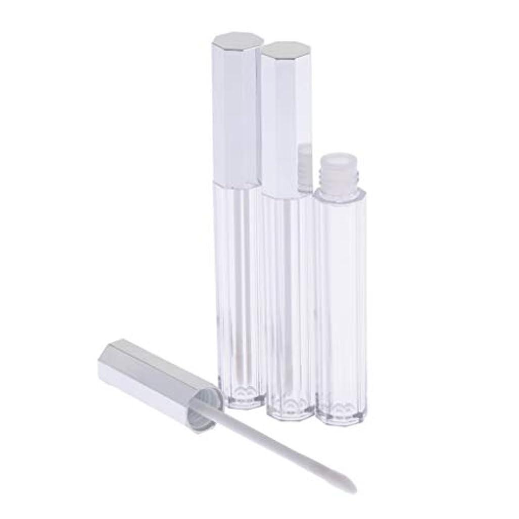胸皮他の日リップグロス 容器 チューブ 口紅 容器 空 プラスチック リップグロスボトル 5ml 3個セット