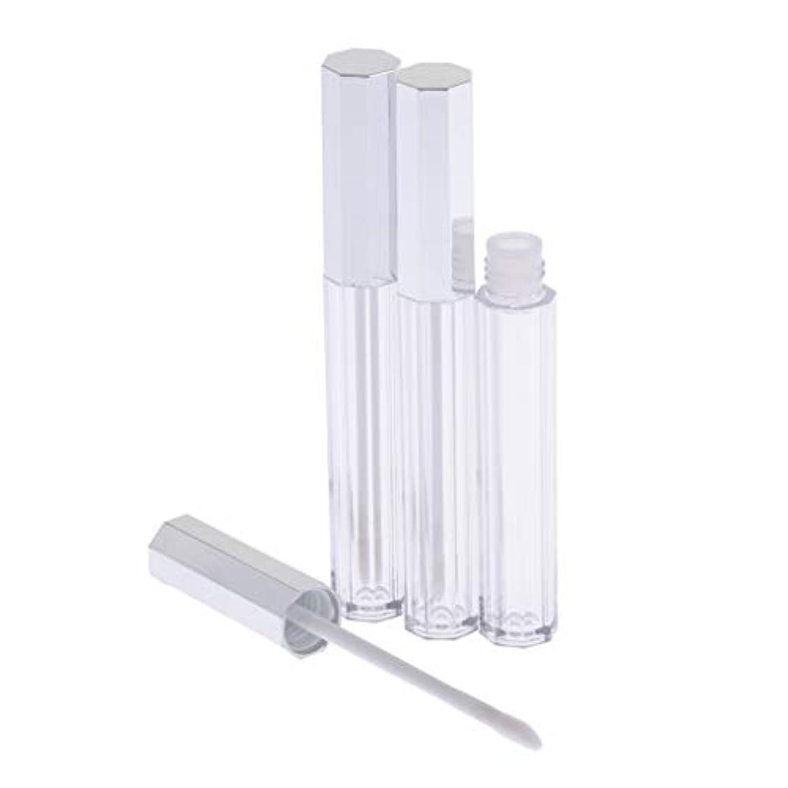 悲劇的な厳しいボールリップグロス 容器 チューブ 口紅 容器 空 プラスチック リップグロスボトル 5ml 3個セット