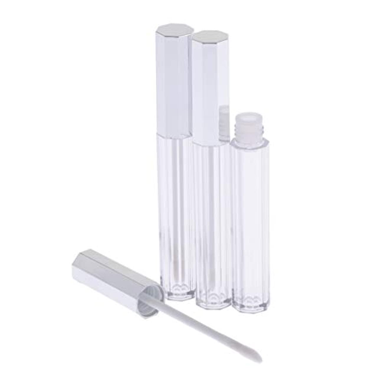 T TOOYFUL リップグロス 容器 チューブ 口紅 容器 空 プラスチック リップグロスボトル 5ml 3個セット