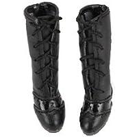 ブライス blythe ドール用 ロングブーツ 黒 ブラック momoko リカちゃん プーリップ オビツ 22cmドール 1/6ドール 靴