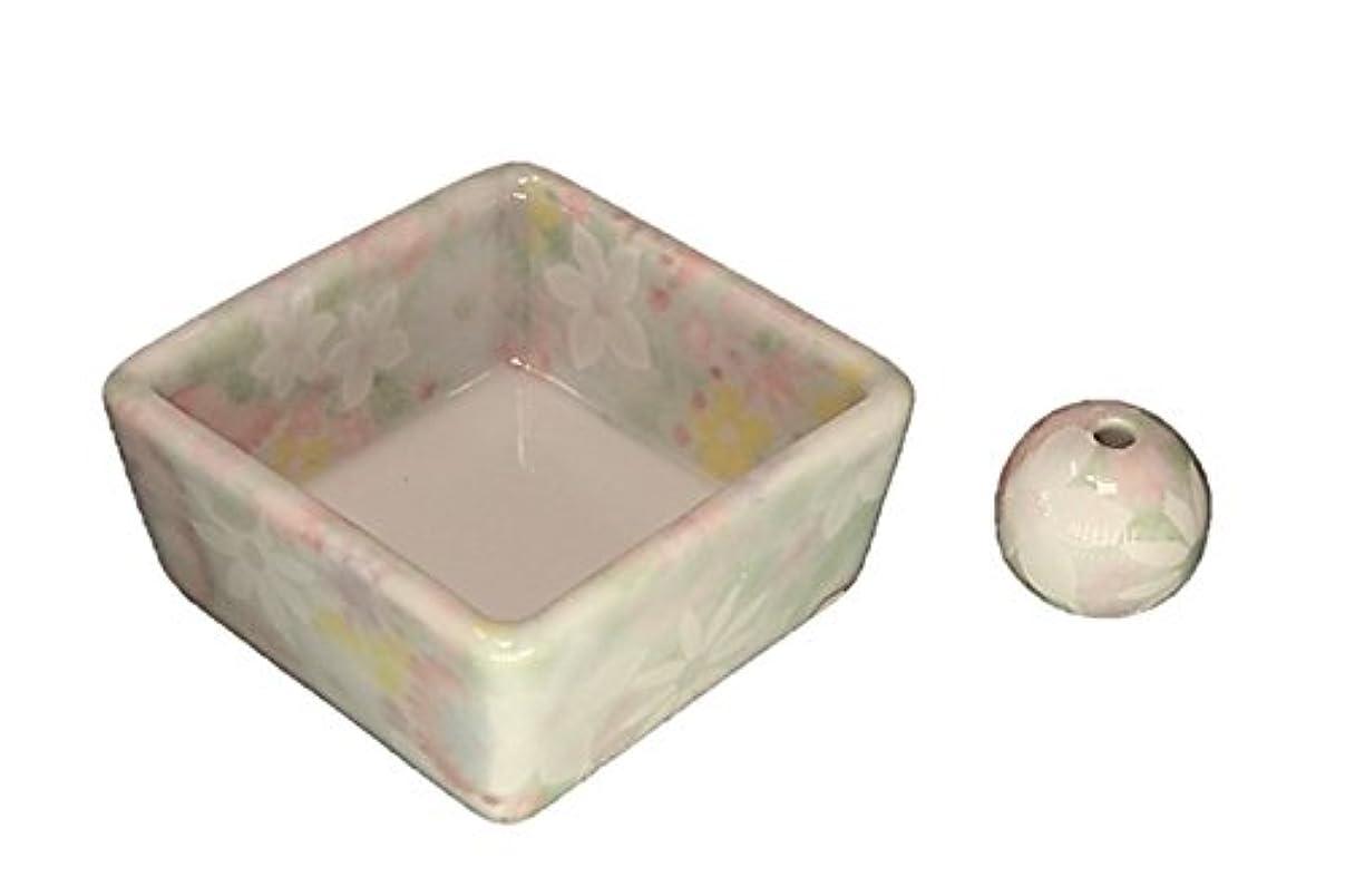 ポテト番号けん引和モダン 華苑 お香立て 陶器 角鉢 製造直売品