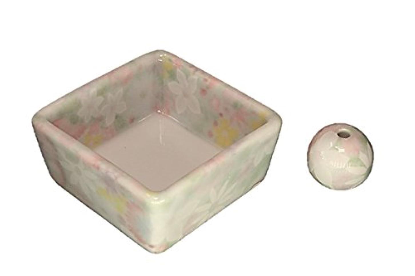 寸法メアリアンジョーンズ欲望和モダン 華苑 お香立て 陶器 角鉢 製造直売品