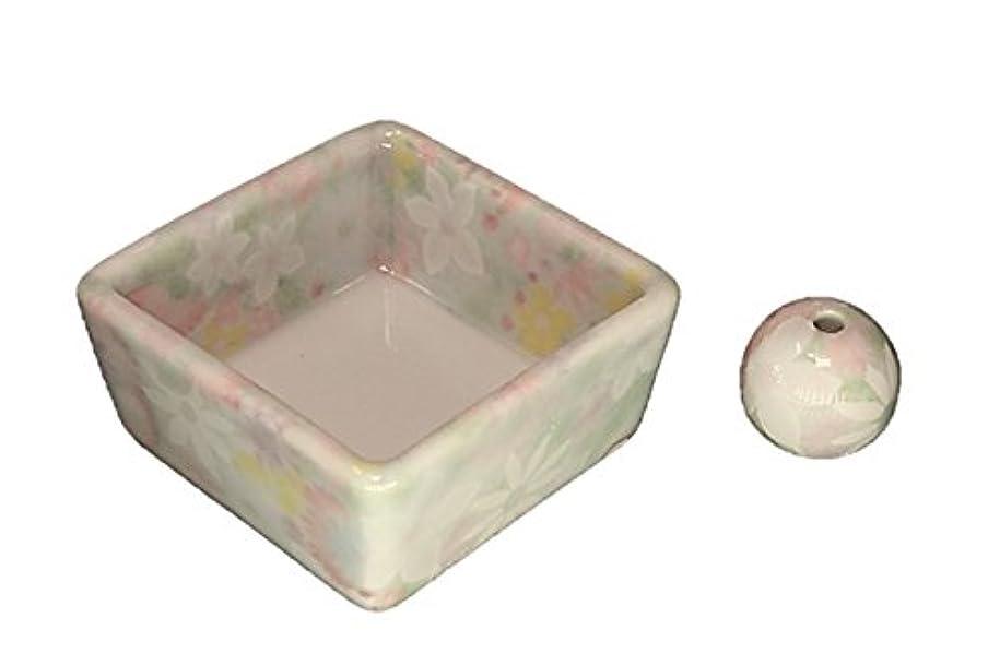 請求書観光に行く叱る和モダン 華苑 お香立て 陶器 角鉢 製造直売品