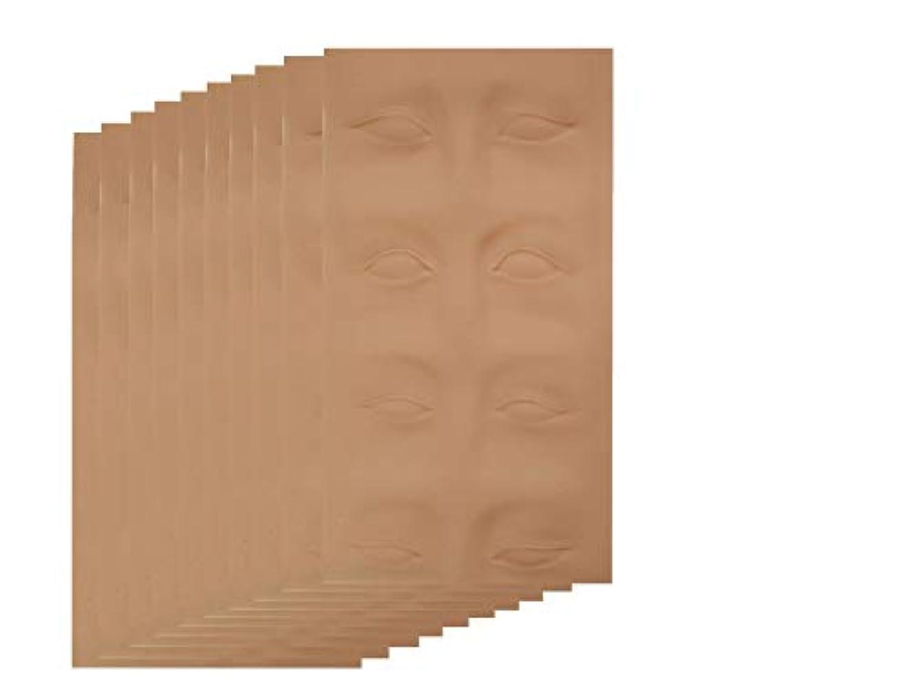 書誌突然の知恵アートメイク 入墨 タトゥ メイク 練習 シートマット 眉タトゥー 練習ゴムシートアートメイク材料 眉 (1枚~10枚) (10枚)