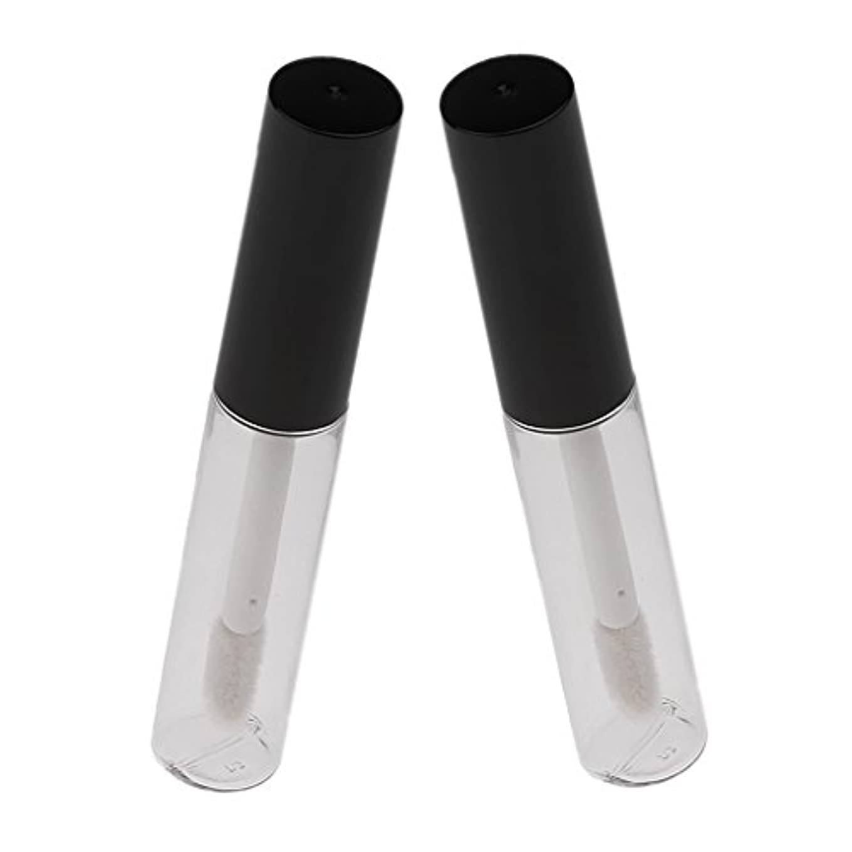 プリーツ教える効率的クリア 空 詰め替え ボトル 旅行 リップ グロス ブラシ チューブ 旅行 便利 グッズ 2個 4ml