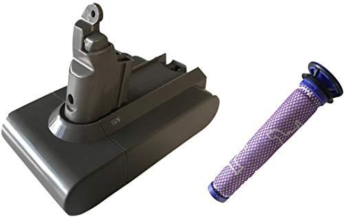 ダイソン用バッテリー&フィルターセット 大容量2200mAh...