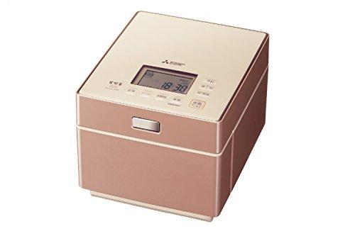 三菱電機 IHジャー炊飯器 蒸気レスIH 備長炭炭炊釜 5.5合炊き テンダーロゼ NJ-XS108J-P