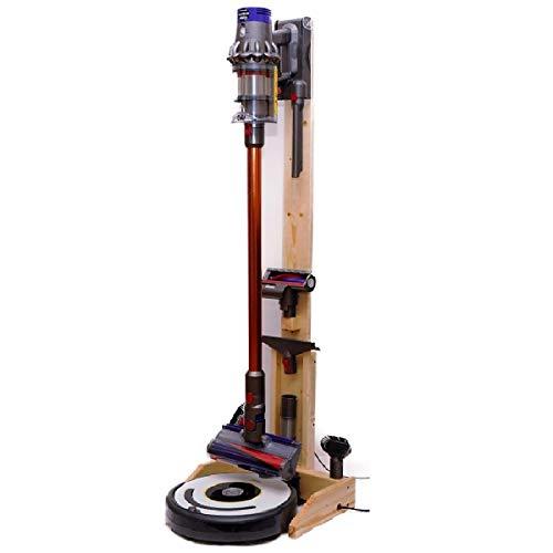 ST-04 WN 掃除ロボット+コードレスクリーナー用純木製スタンド ウッドナチュラル 無垢の天然木と頑丈な木組み構造で安心!