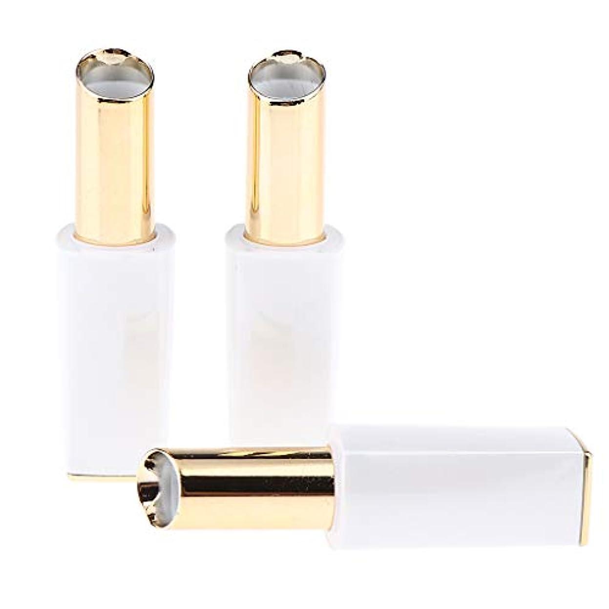 精通した許されるレビュアーリップスティック チューブ 口紅チューブ プラスチック メイクアップ 道具 3本入り 全3色 - 白