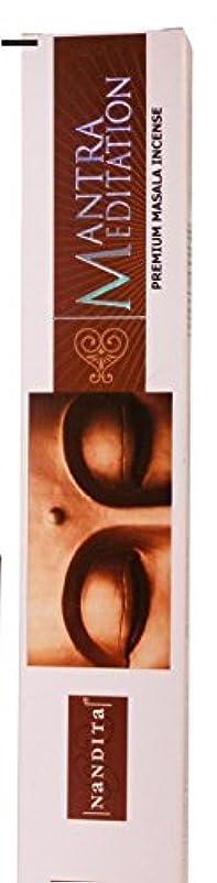 補足基礎見えるパックの3つの( 3 )ボックスNandita Mantra Meditation 15 g Incense Sticks