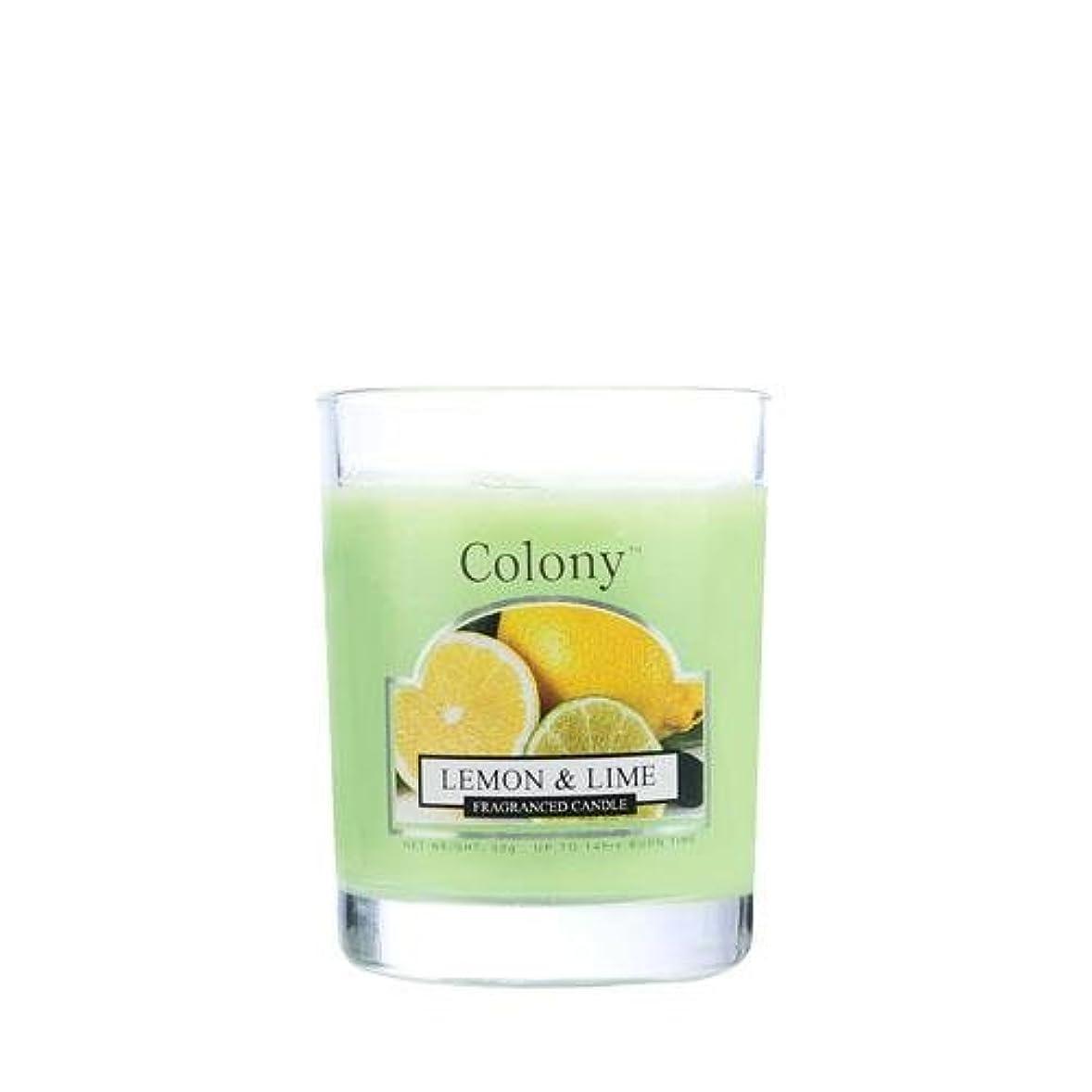 リゾート批判サービスWAX LYRICAL ENGLAND Colony HomeScents Series ミニワックスキャンドル レモン&ライム CNCH3668