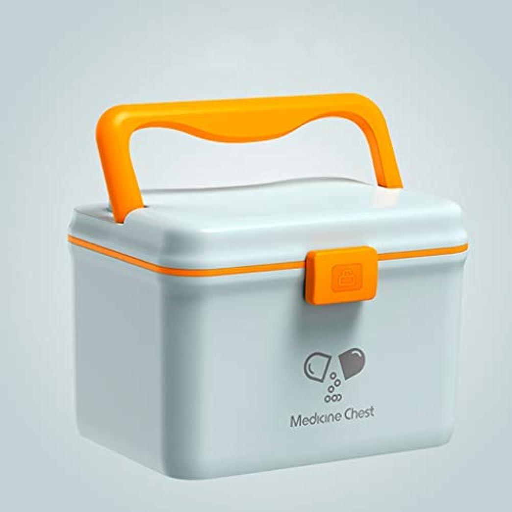ニュース書誌カヌーYYFRB 家庭用薬箱、アイテム収納ボックス、ポータブル救急箱 医学パッケージ (Color : Blue)