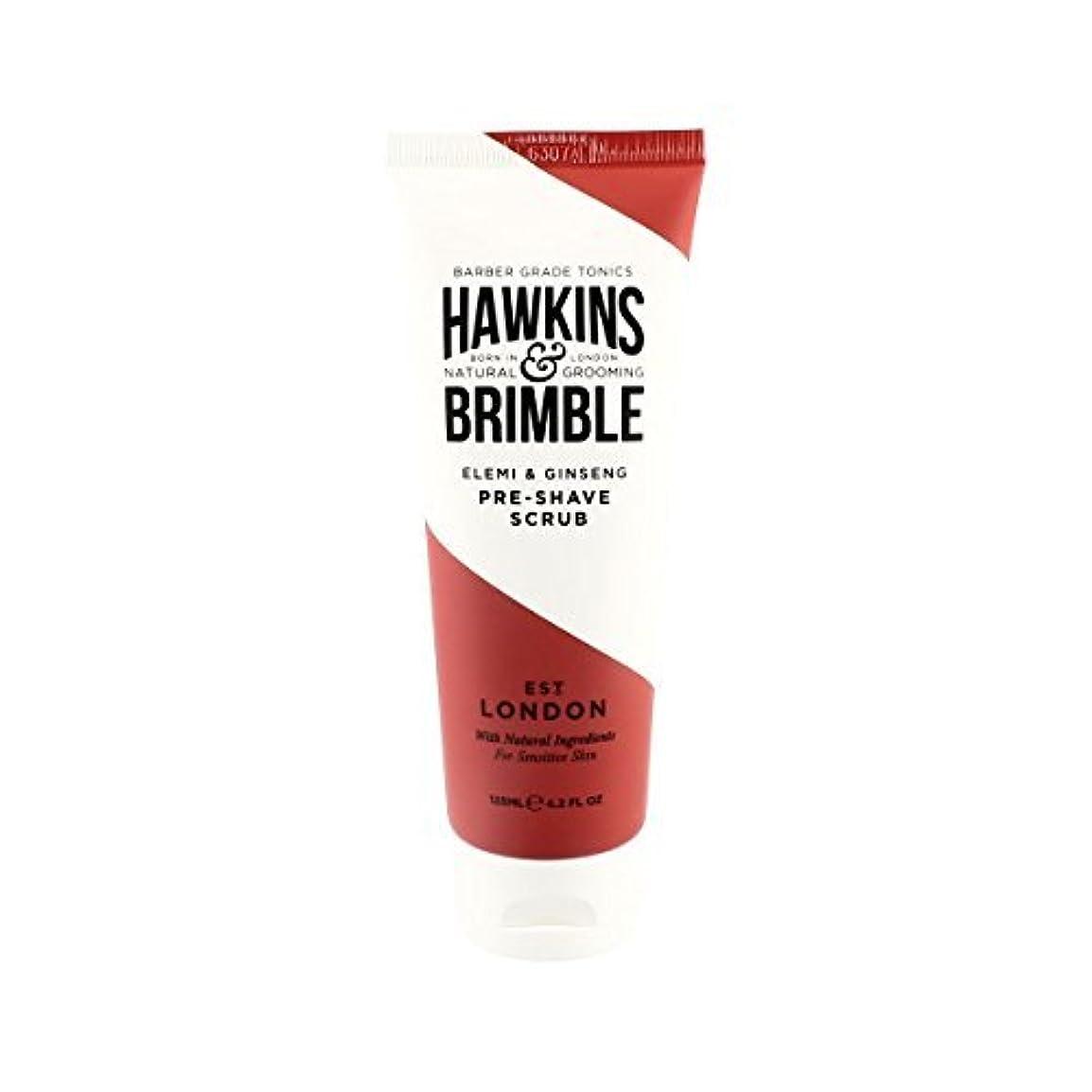 コロニアル晩餐海外Hawkins & Brimble Pre-shave Scrub (125ml) [並行輸入品]
