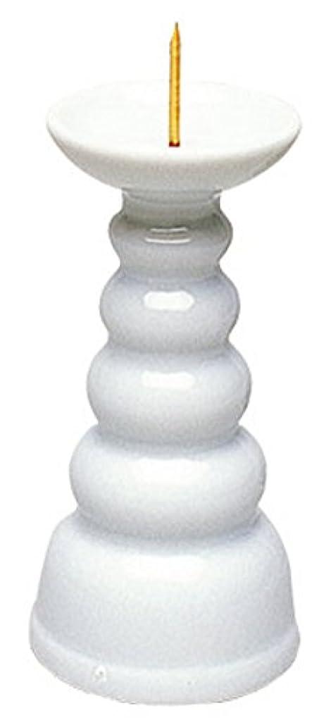 押す笑前投薬マルエス ろうそく立て 白3.0寸ロー立 ホワイト