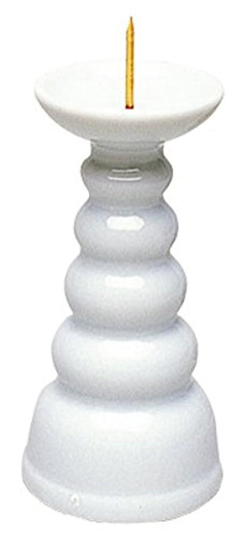 マルエス ろうそく立て 白3.0寸ロー立 ホワイト