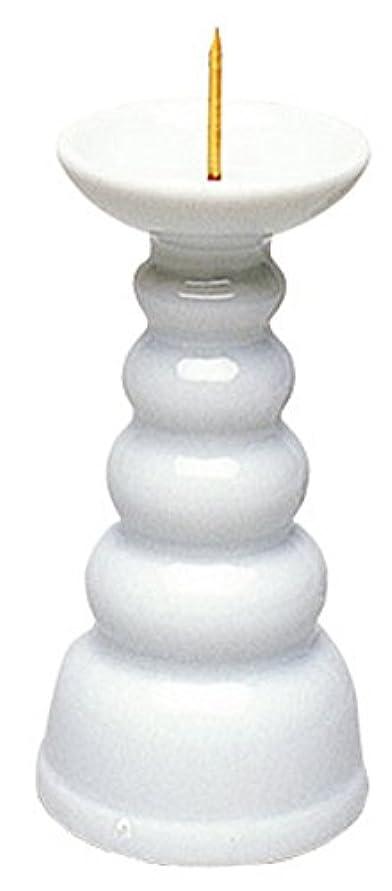 与える綺麗なタクシーマルエス ろうそく立て 白3.0寸ロー立 ホワイト