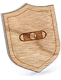 シガーカッターラペルピン、木製ピンとタイタック|素朴な、ミニマルGroomsmenギフト、ウェディングアクセサリー
