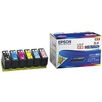 エプソン カラリオプリンター用 インクカートリッジ/カメ(増量6色パック) 〈簡易梱包