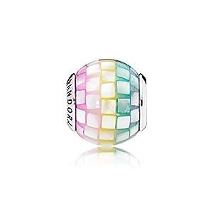 [パンドラ] PANDORA Multi-colour Mosaic チャーム (スターリングシルバー アクリル マザーオブパール) 正規輸入品 797183MPR