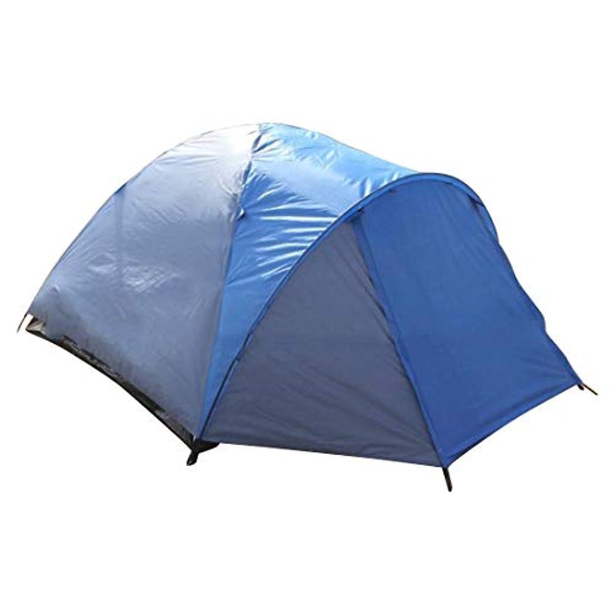 花束くるみ植木屋外のキャンプのためのMHKBD-JP 3人か4人のテント キャンプテント (色 : 青)