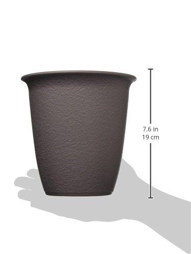 アイリスオーヤマ 鉢 和彩 長鉢 6号 黒土
