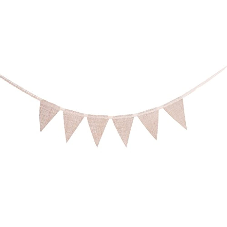 Perfk ガーランド バナー 三角旗 レース 装飾 パーティー お祝い 写真背景 全5タイプ - 1.7m タイプ4