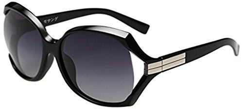 (モサング)レディースサングラス 偏光 レンズ UV400カット 紫外線防止 サングラス ケース&メガネ入袋とメガネ拭きの4点セット