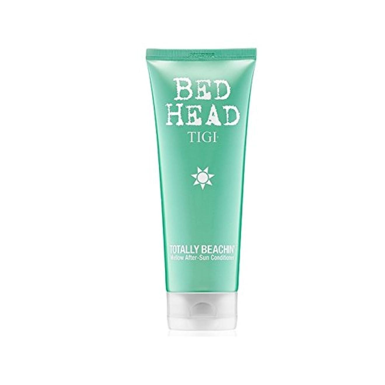 羊飼い社員座標Tigi Bed Head Totally Beachin Mellow After-Sun Conditioner (200ml) - ティジーベッドヘッド全くまろやかアフターサンコンディショナー(200ミリリットル)...