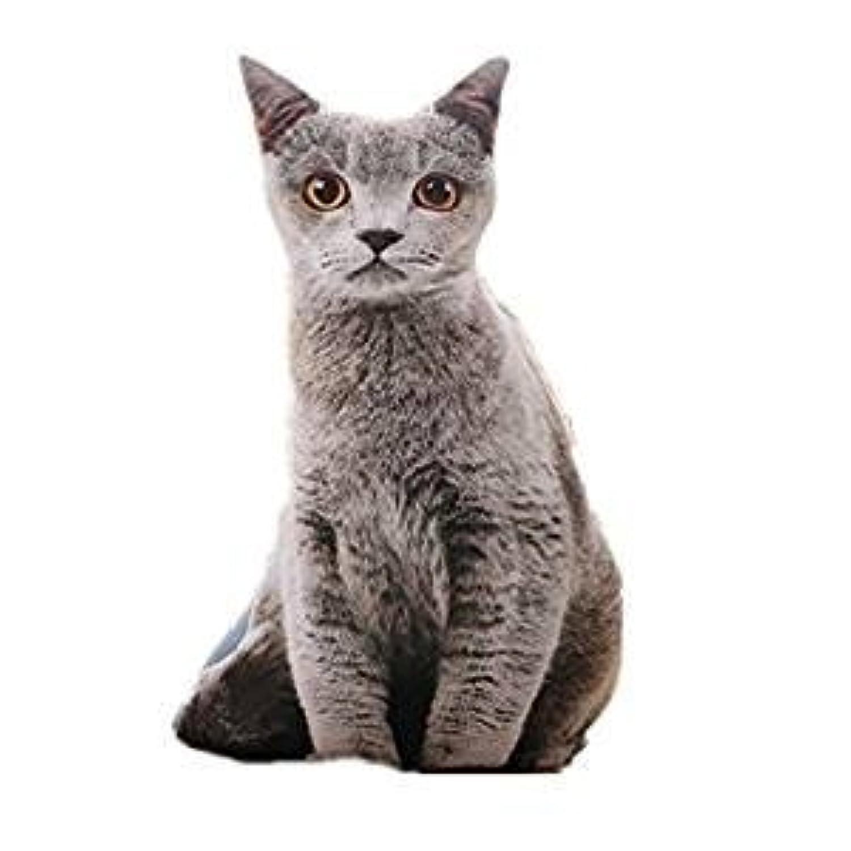 Simple Life おもしろい リアル 猫 抱きまくら 動物 3D 本物とそっくり ぬいぐるみ 背もたれ かわいい 萌え萌え ねこ おもちゃ 柔らかい ふわふわ 低反発 丸洗える うたた寝 抱き枕 ソファー用 部屋飾り お祝い ギフト 恋人 子供へのプレゼント  (グレー, 50cm)