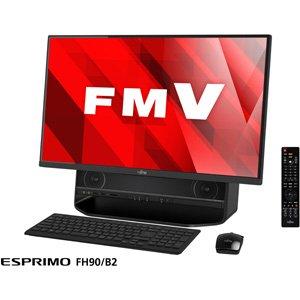 富士通 27型 デスクトップパソコンFMV ESPRIMO FH90/B2 オーシャンブラック(Office Home&Business Premium プラス Office 365) FMVF90B2B
